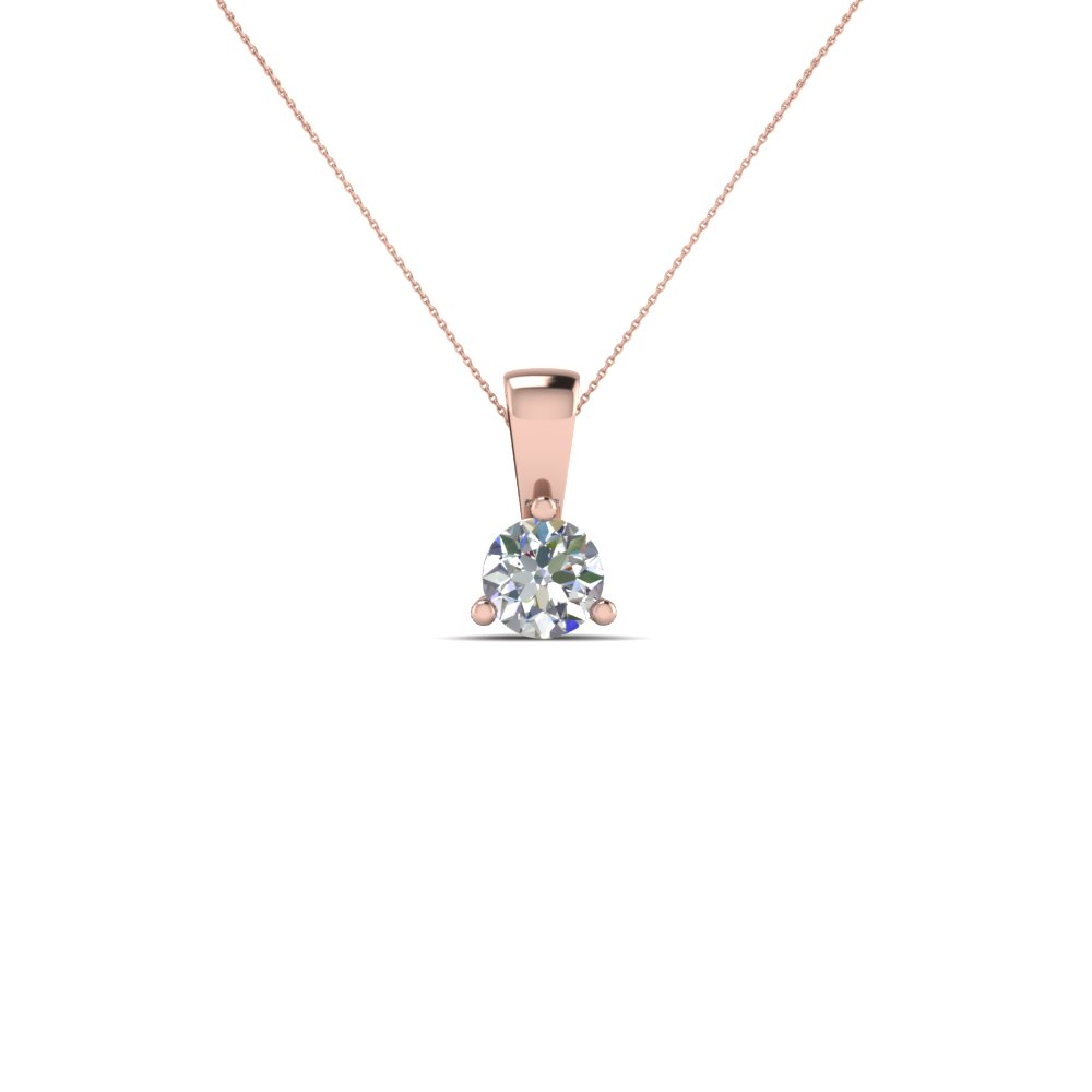 0.50 Ct. Single Round Diamond Pendant
