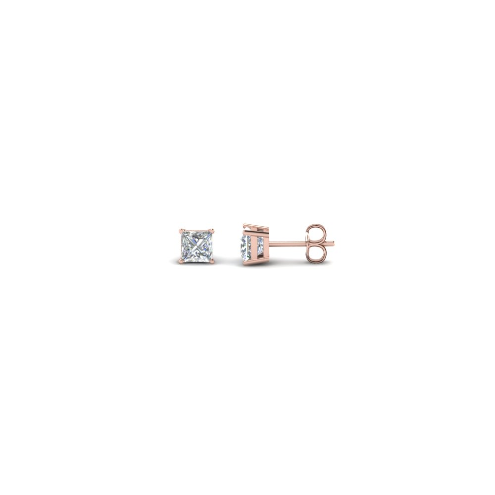 0.25 Carat Princess Cut Stud Earring