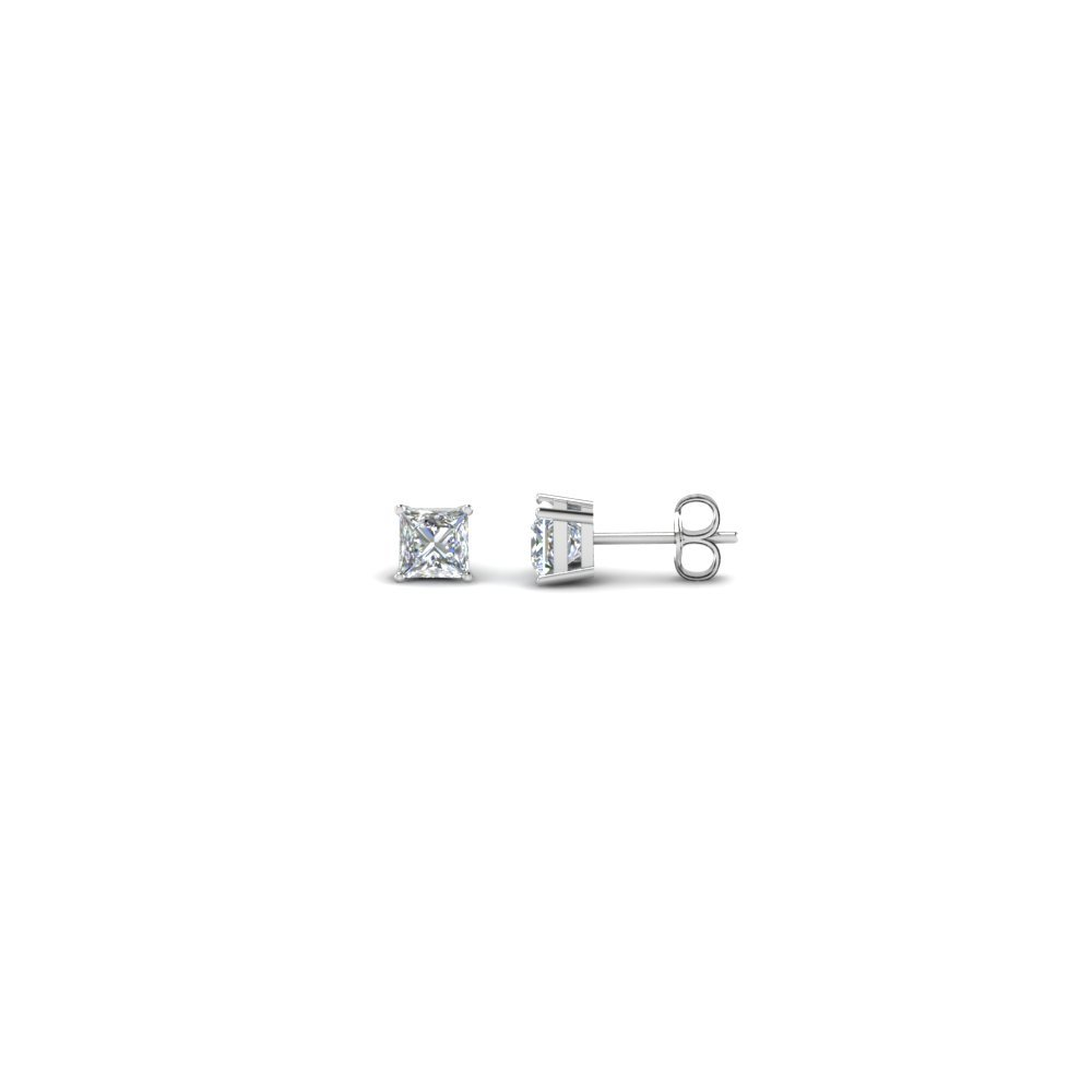0.25 Ct. Princess Cut Diamond Stud Earrings