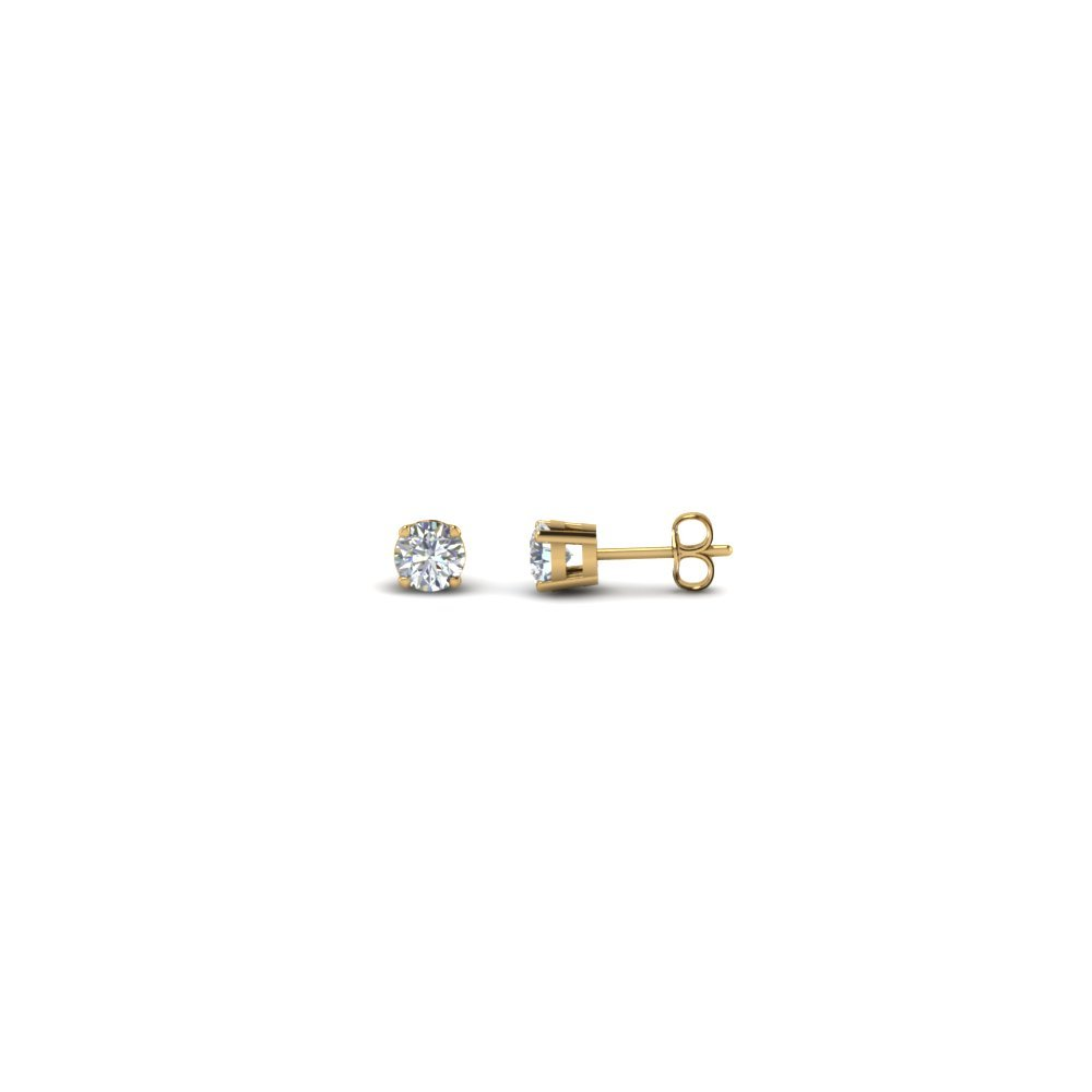 0.25 Carat Round Diamond Stud Earring