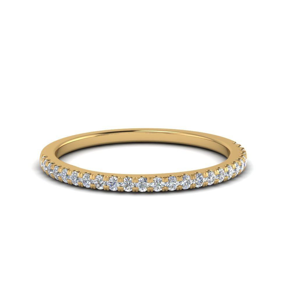 0.25 Carat Round Diamond Wedding Ring In 18K Yellow Gold