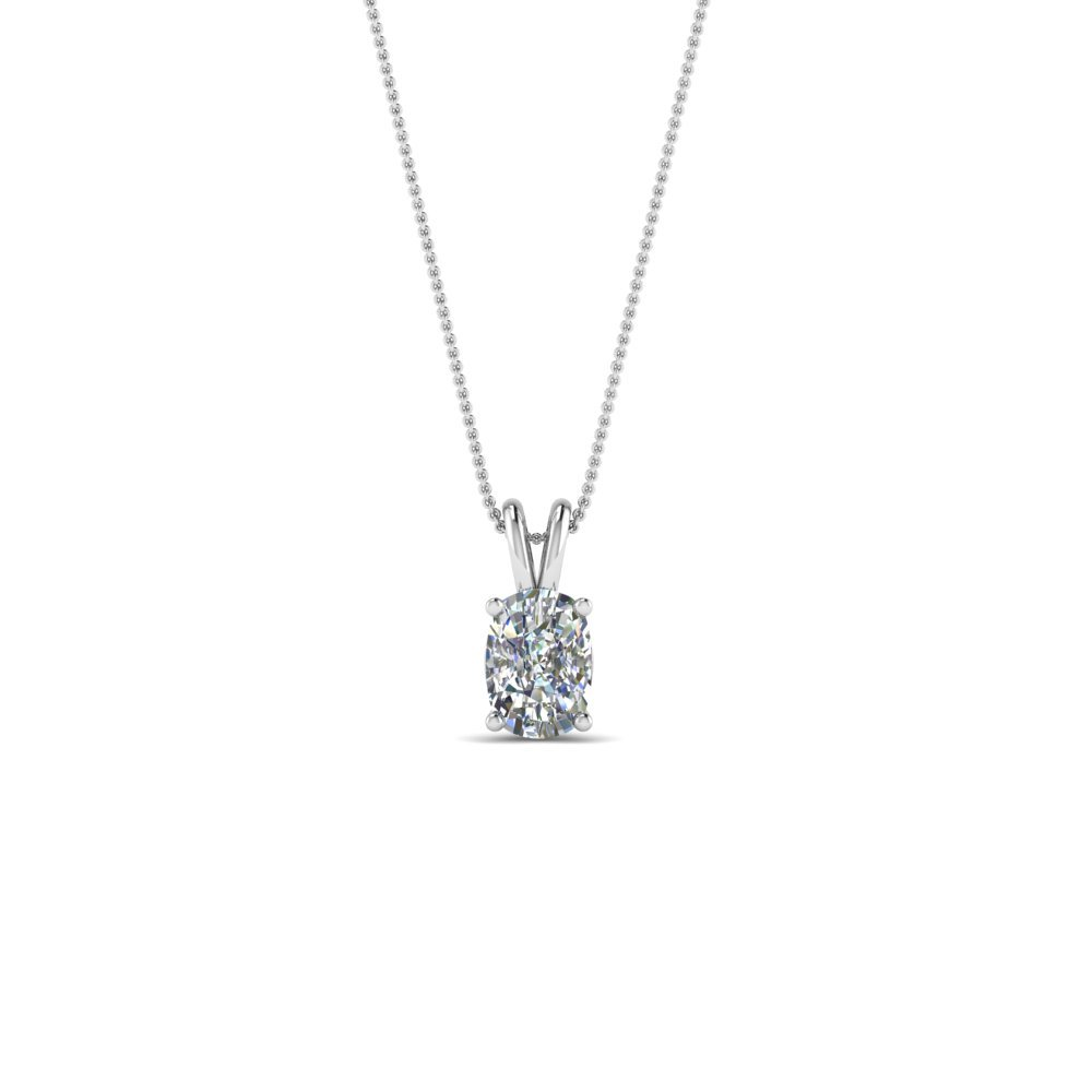 0.25 Ct. Cushion Diamond Solitaire Pendant