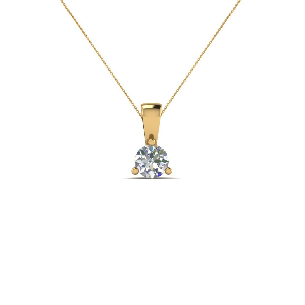 Small Diamond Pendant Necklace