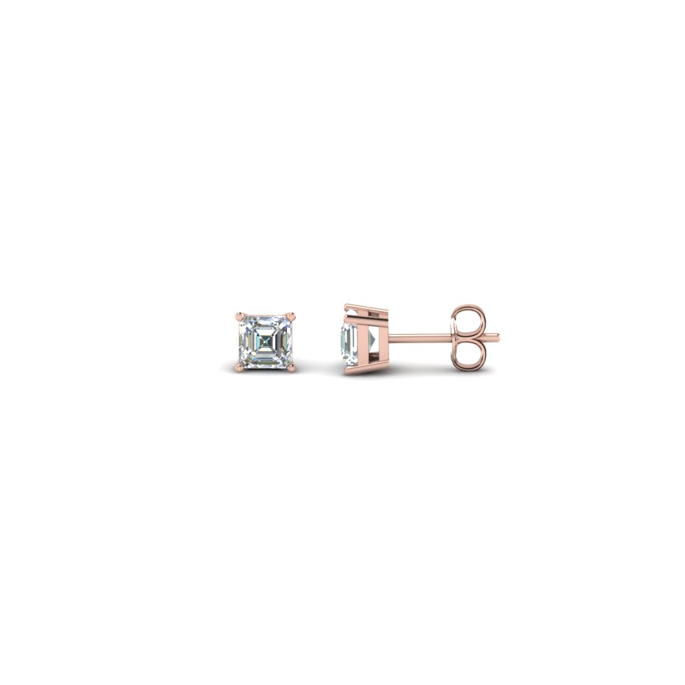 0.30 Carat Asscher Cut Diamond Earring