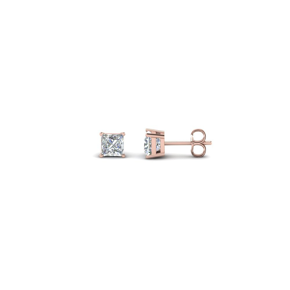 0.34 Ct. Diamond Princess Cut Earrings