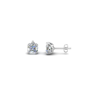 0.5 Ct. Asscher Cut Diamond Earring