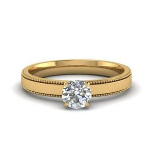 0.5 Ct. Milgrain Solitaire Ring