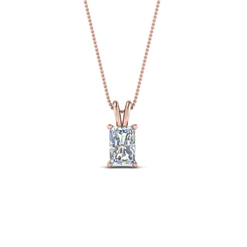 0.50 Ctw. Diamond Radiant Solitaire Pendant