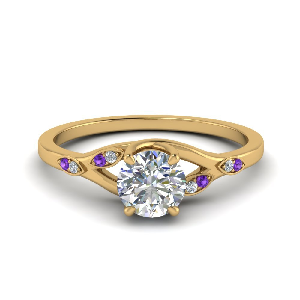 Violet Topaz Delicate Anniversary Ring