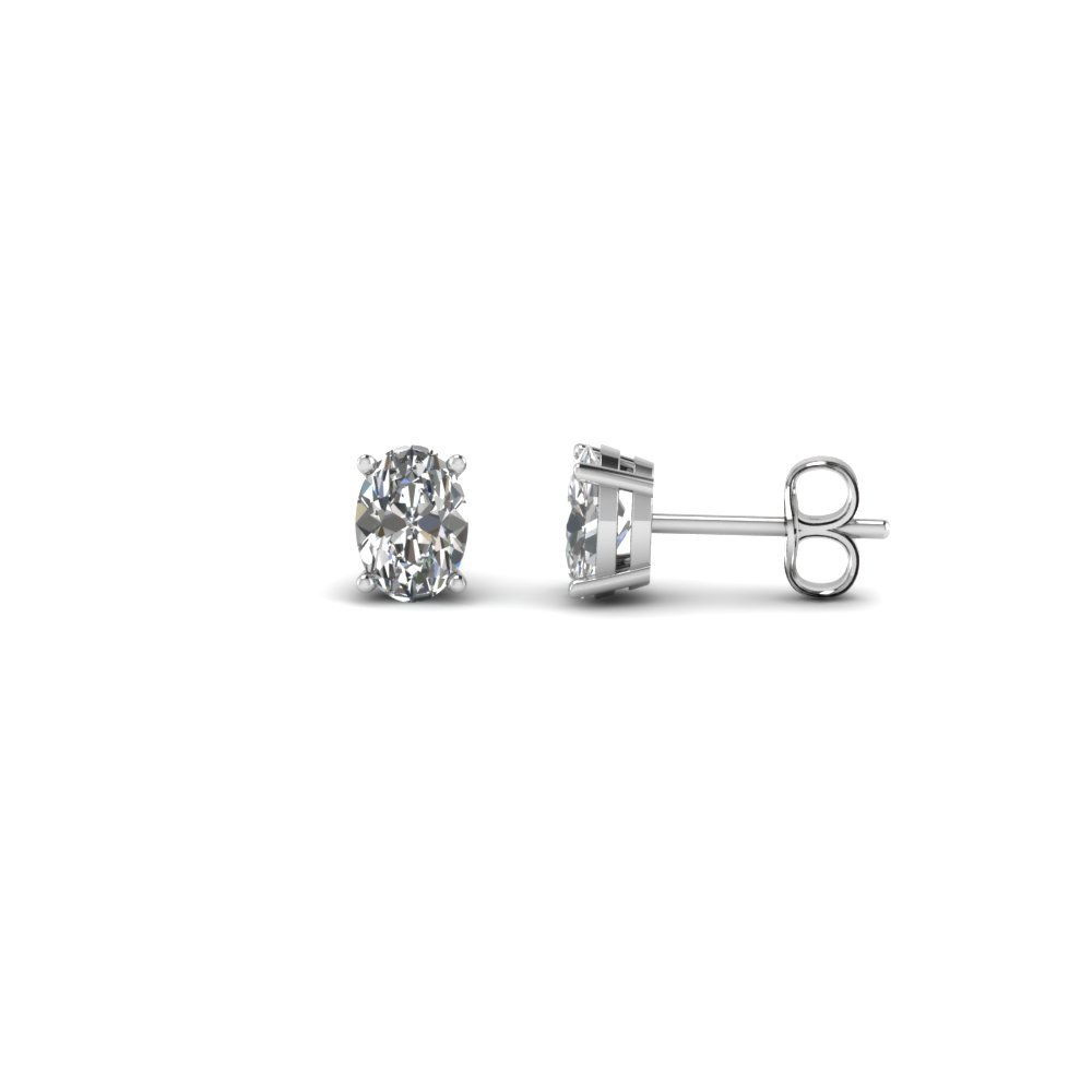 0.50 Ct. Oval Diamond Stud Earring