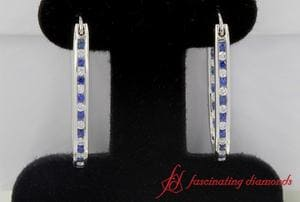 0.50 Ct. Diamond Hoop Earrings