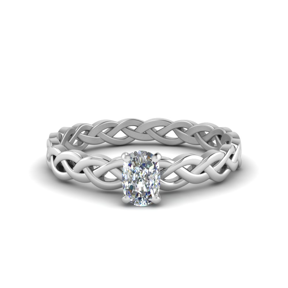 1/2 Ct. Cushion Cut Diamond Ring For Her