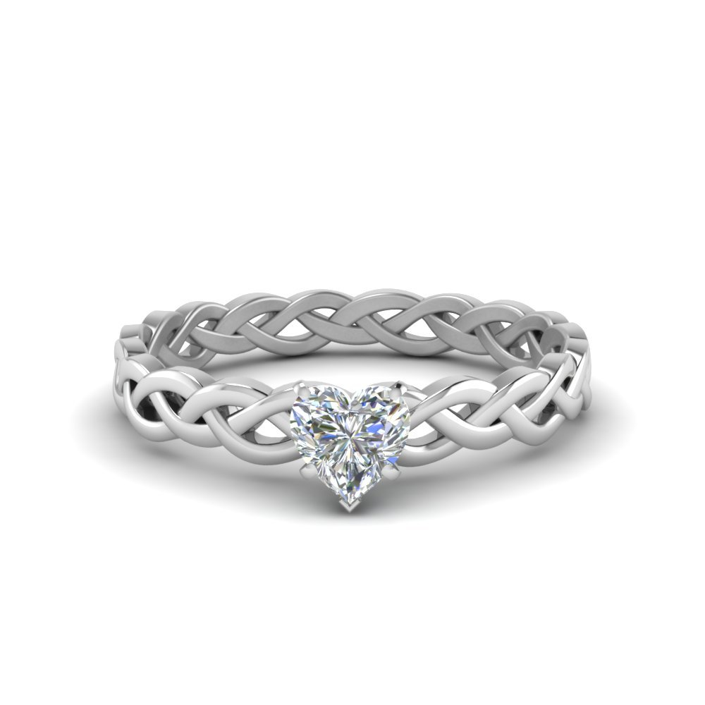 Diamond Braided Solitaire Ring