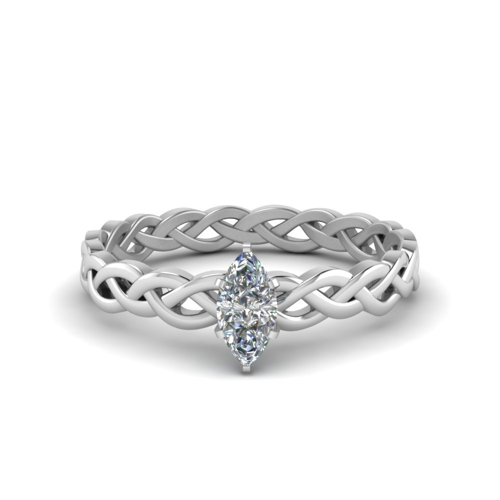 1/2 Carat Diamond Braided Solitaire Ring