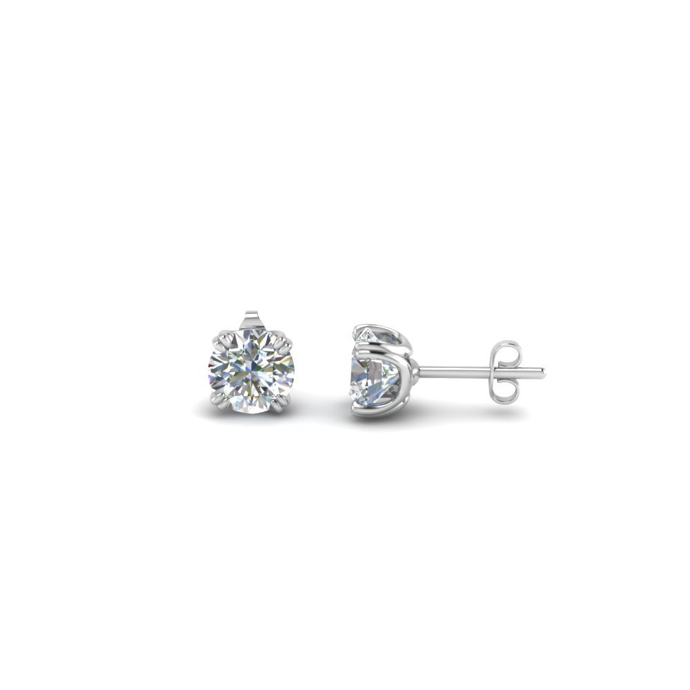 0.50 Carat Diamond Stud Earring In 14K White Gold