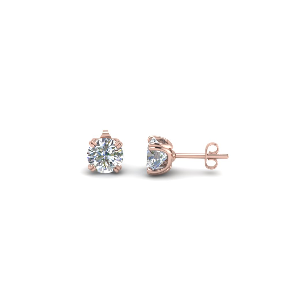 0.50 Carat Diamond Stud Earring In 18K Rose Gold
