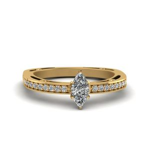 1/2 Ct. Diamond Petite Pave marquise cut Ring
