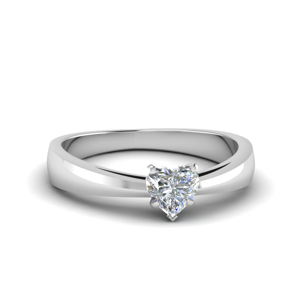 Half Carat Heart Diamond Rings