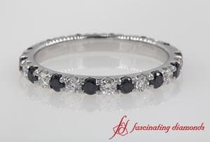 0.75 Ct. Round Black Diamond Eternity Band In Platinum