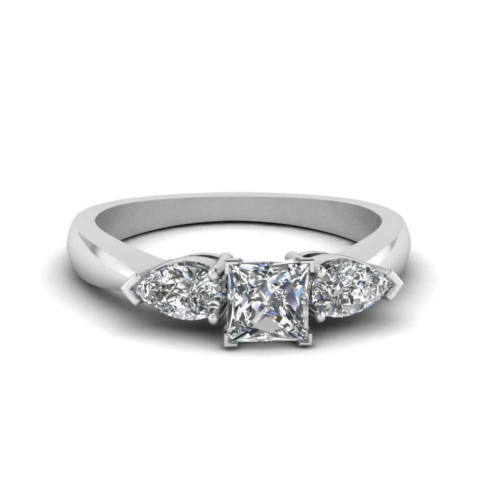3/4 Carat princess Diamond 3 Stone Ring