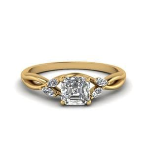 0.75 Carat Diamond Twisted Ring