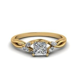 0.75 Ct. Princess Cut Petite Ring