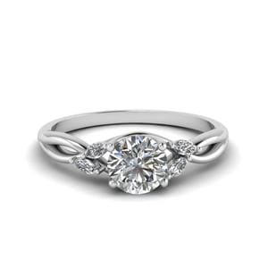 Platinum Round Diamond Ring 0.75 Ct.