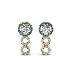 0.75 Carat Halo Drop Earring