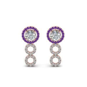 0.75 Carat Diamond Drop Earring