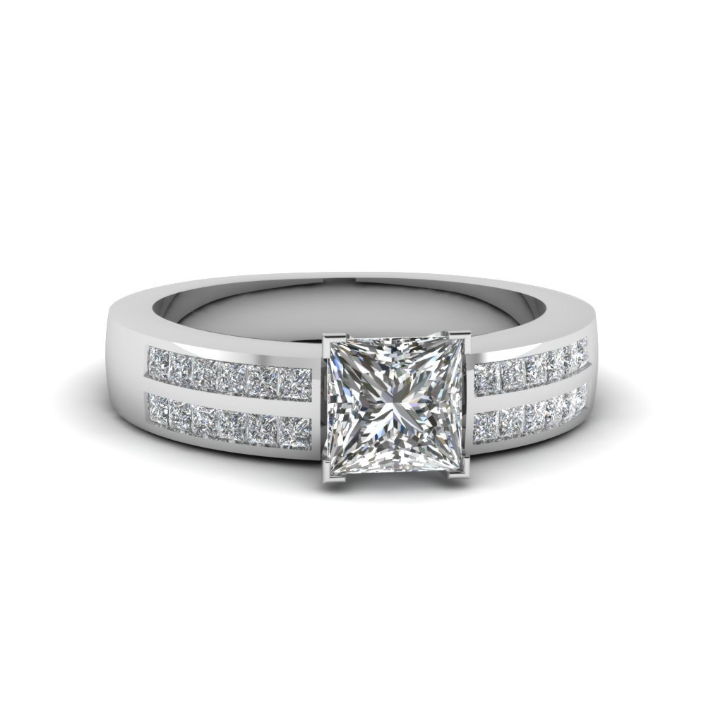 3/4 Ctw. princess Diamond 2 Row Ring
