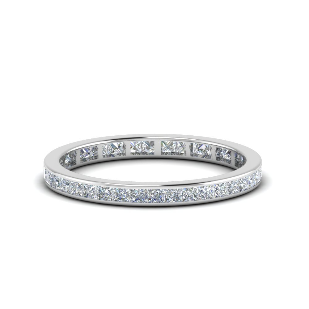0.75 Carat Princess Eternity<br> Band