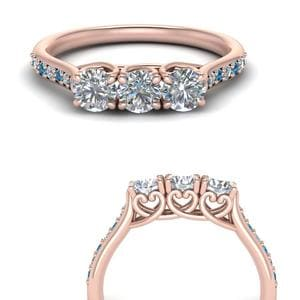 Pave Cathedral Topaz Wedding Band