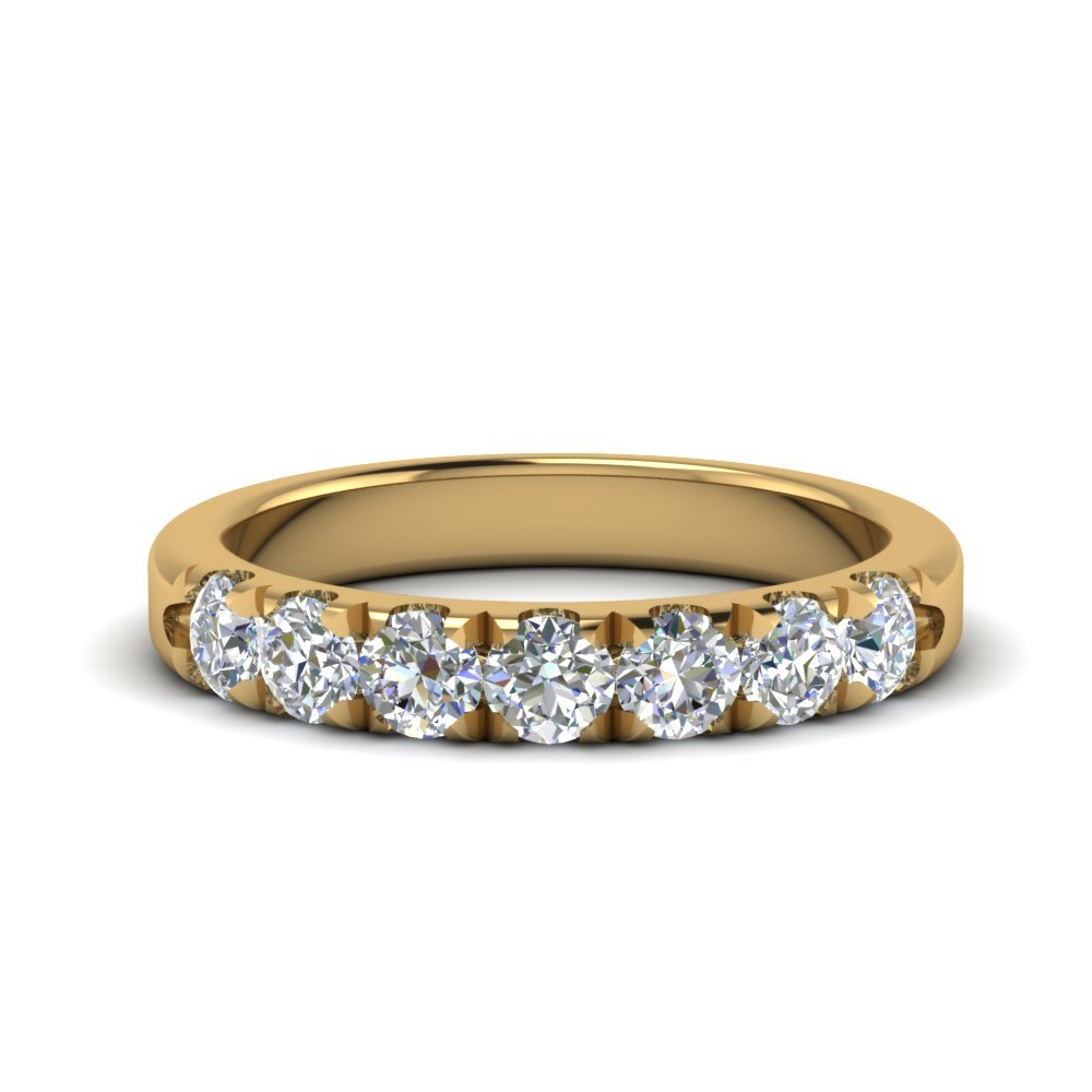 0.75 Ct. Diamond 7 Stone Anniversary Ring In 18K Yellow Gold