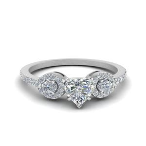 0.75 Ct. Diamond Petite 3 Stone Ring