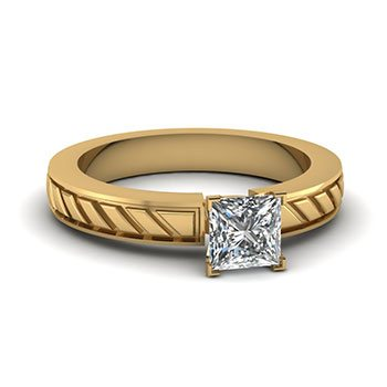 0.75 Ct. Princess Cut Solitaire Diamond Ring