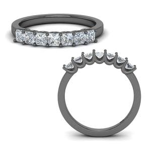 Princess Cut Simple 7 Stone Band