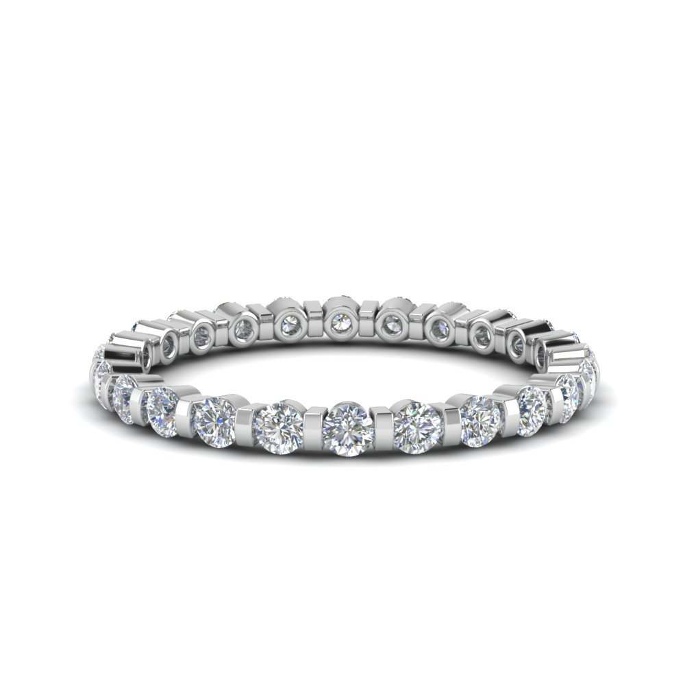 0.75 Ct. Round Diamond Single Row Eternity Ring In 14K White Gold