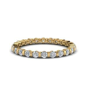 0.75 Ct. Round Cut Single Row Ring