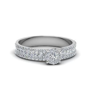 0.80 Ct. Diamond Round Halo Ring In 14K White Gold