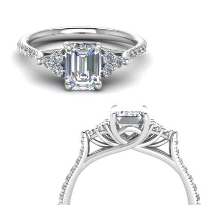 Emerald Cut Petite Pave RIng