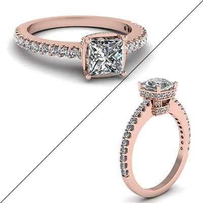 1 Carat Delicate U Prong Ring