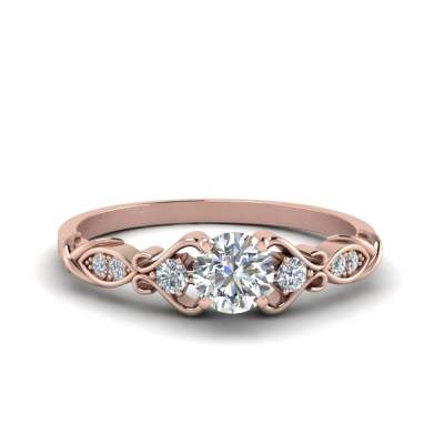 Victorian Style Pave Diamond Ring