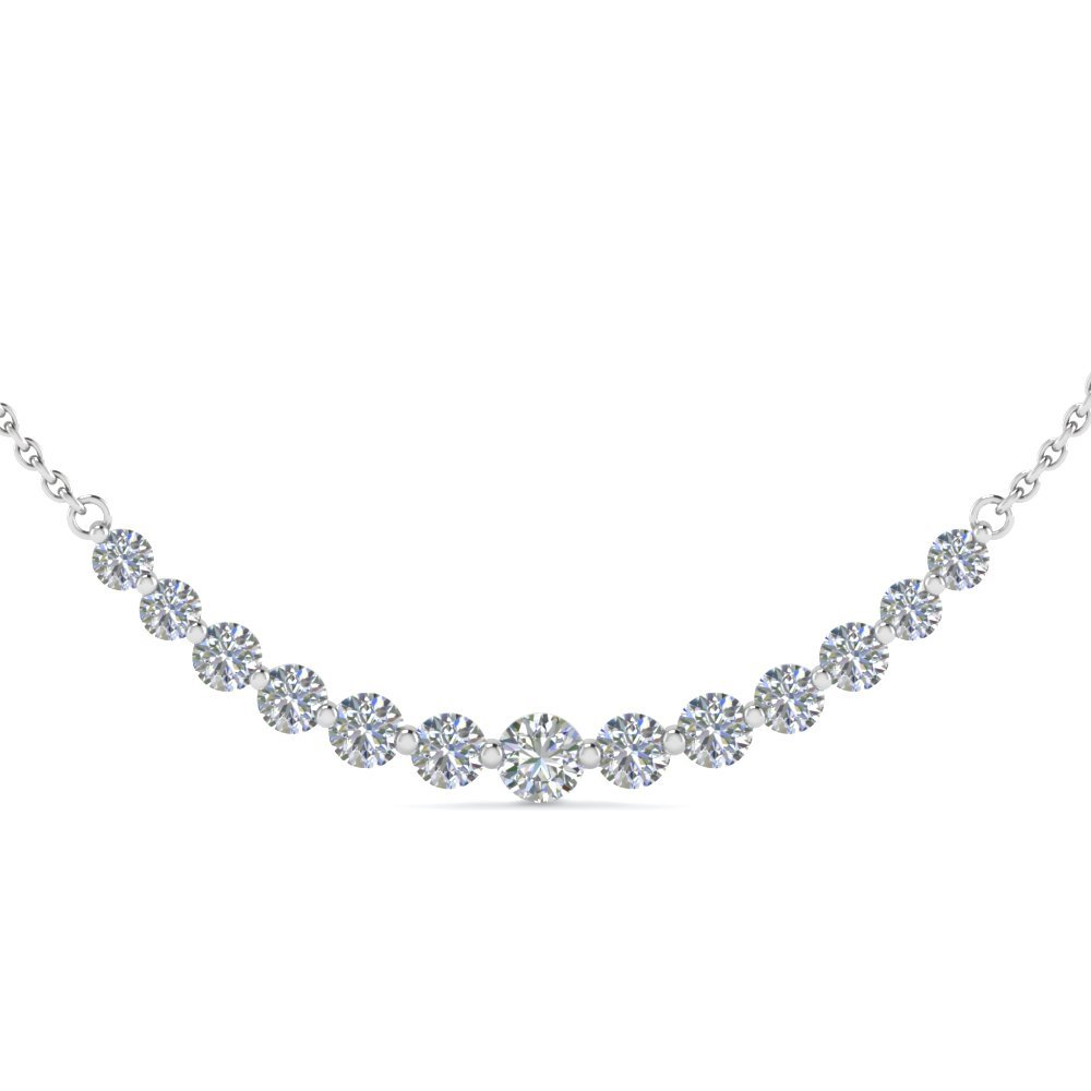 1 Ct. 13 Round Cut Diamond Necklace