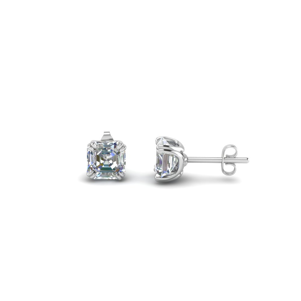 1 Ct. Asscher Diamond Earring