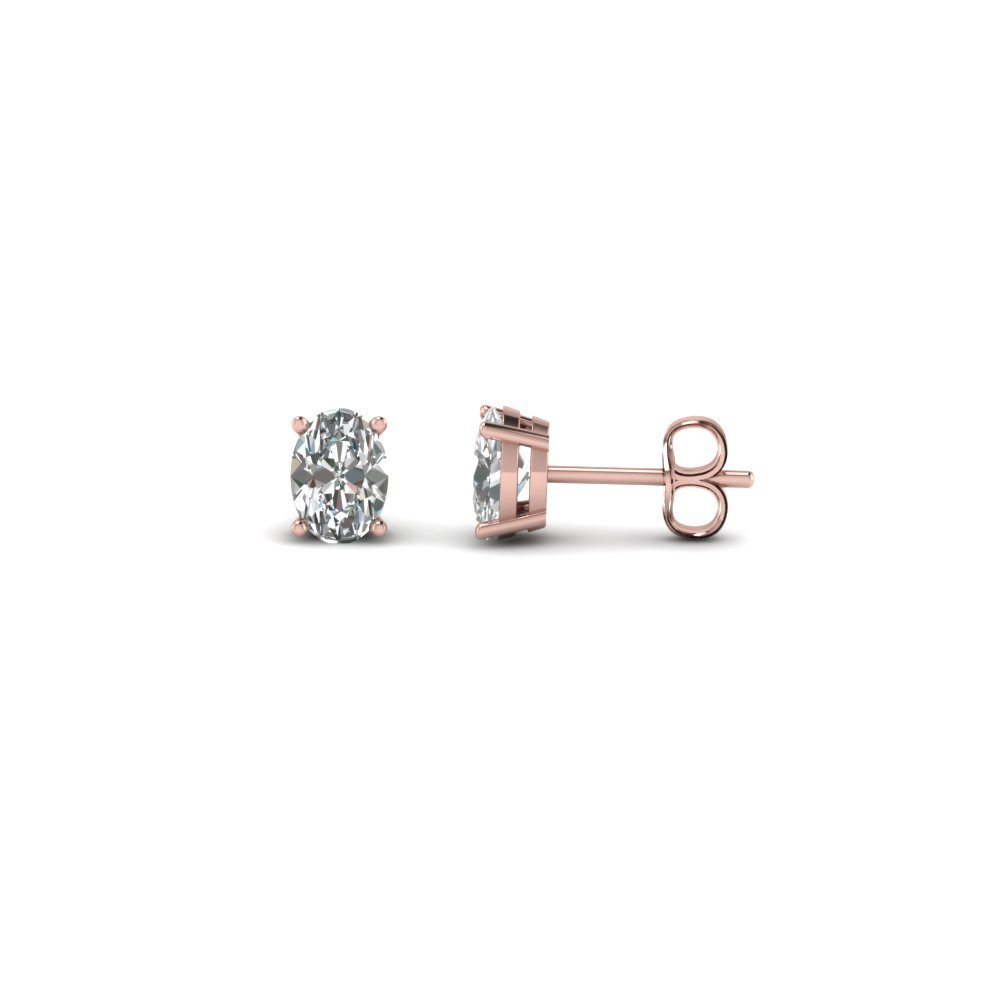 1 Ct. Oval Shaped Diamond Earring