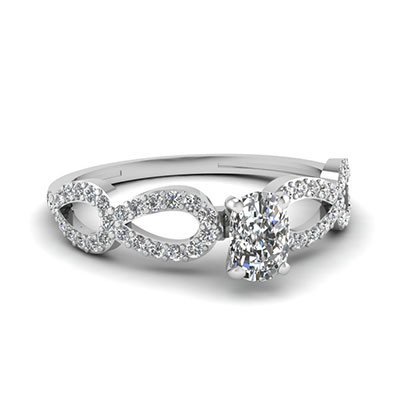 1 Ct. Cushion Cut Diamond Engagement Rings