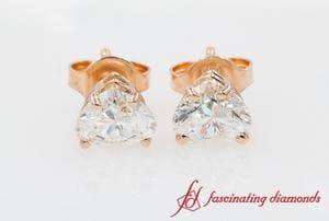 1 Carat Heart Diamond Earring