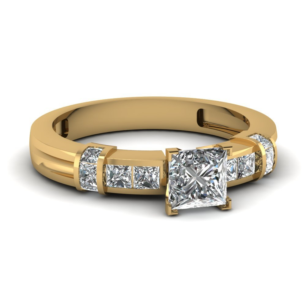 1 Ct. Princess Diamond Bar And Channel Ring