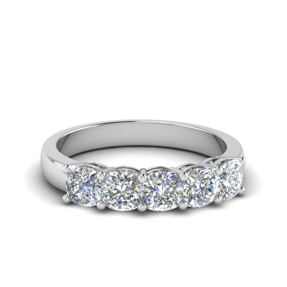 1 Ct. 5 Stone Cushion Diamond Ring
