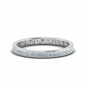 1 Ct. Princess Cut Channel Eternity Band